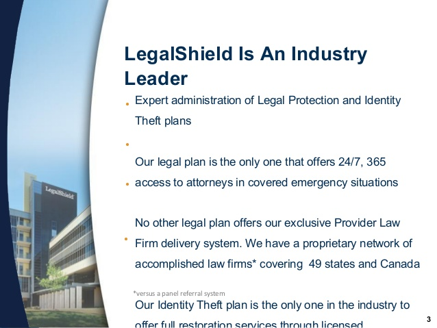 LegalShield Legal Protection & ID Theft Sales Pic